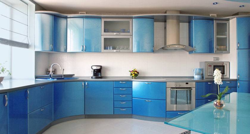 Blue Kitchen Ideas Decor Paint Cabinet
