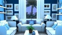 Blue Living Room Design