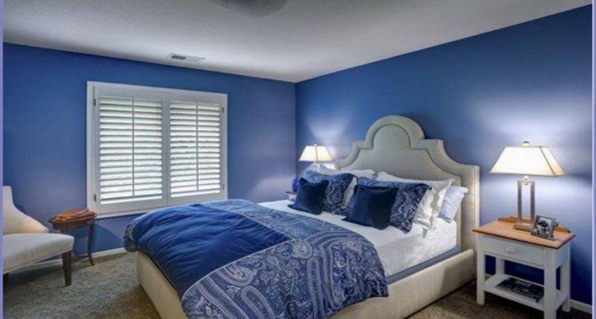 Blue Modern Bedroom Painted Living Rooms Master