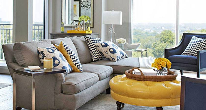 Blue Orange Living Room Decorating Best