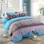 Blue Pink Floral Bedding Set Ebeddingsets