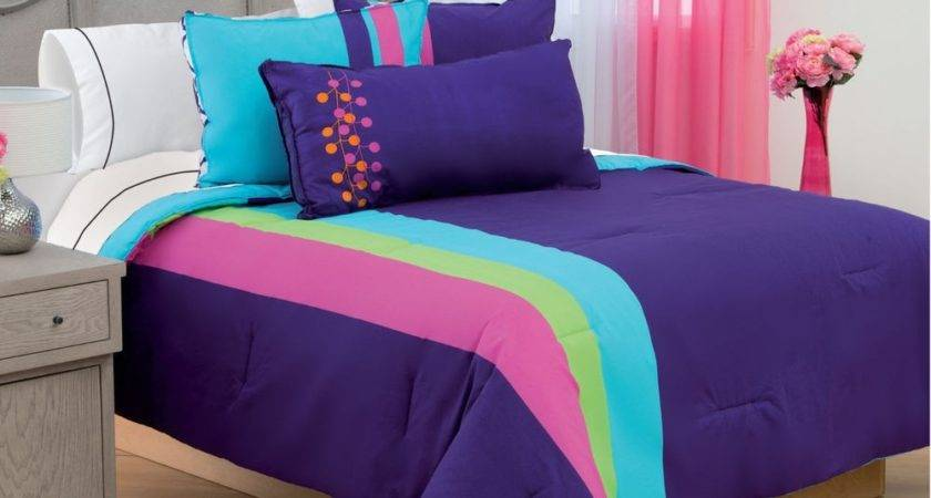 Blue Purple Bedding Comforter Set