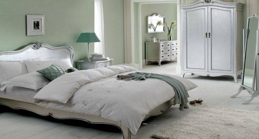 Blue Silver Bedroom White