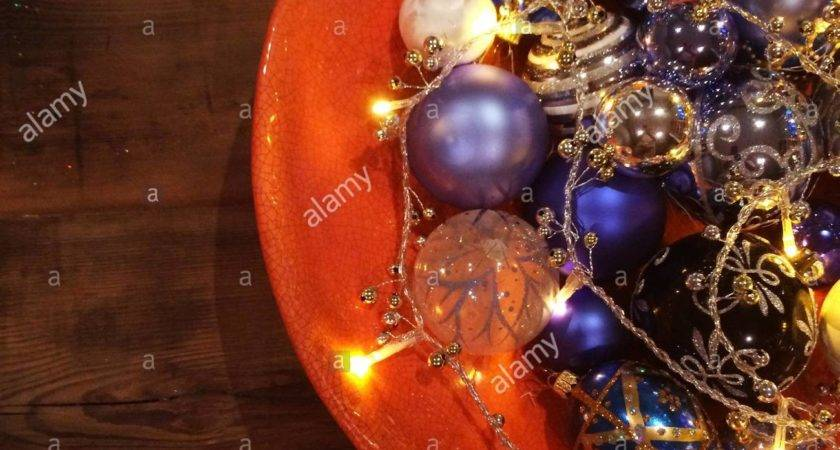 Blue Silver White Black Christmas Decorations