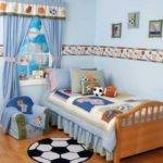 Blue Soccer Boys Bedroom Theme Ideas Home Design Wall