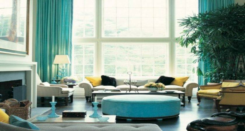 Blue Yellow Curtains Turquoise Meaning