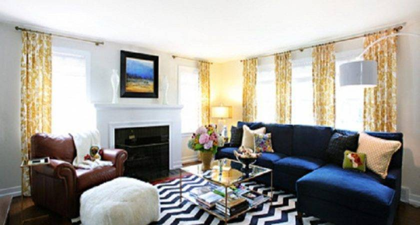 Blue Yellow Living Room Ideas Dgmagnets
