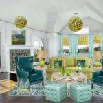 Blue Yellow Living Room Ideas Modern House