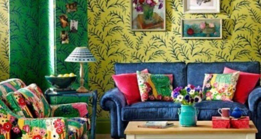 Bohemian Living Room Colors Home Garden