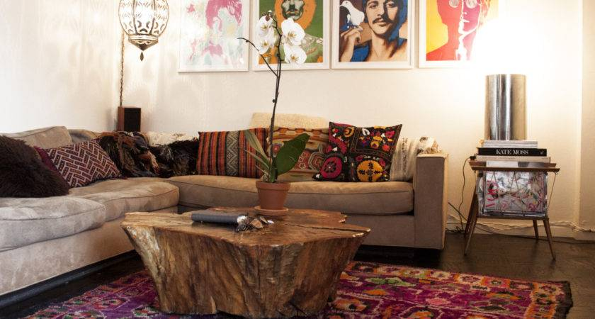 Bohemian Style Living Room Orchidlagoon