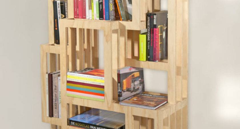 Bookshelf Creative Homemade Bookshelves Simple Designs