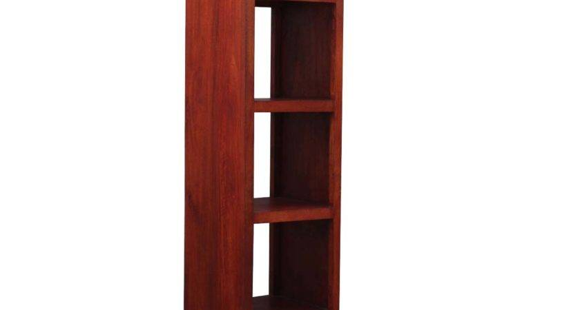 Bookshelf Tower Contemporary Solid Hardwood