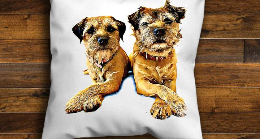 Border Terrier Unique Design Cushion Cover