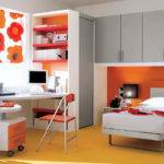 Boy Kids Bedroom Orange Interior Design Ideas