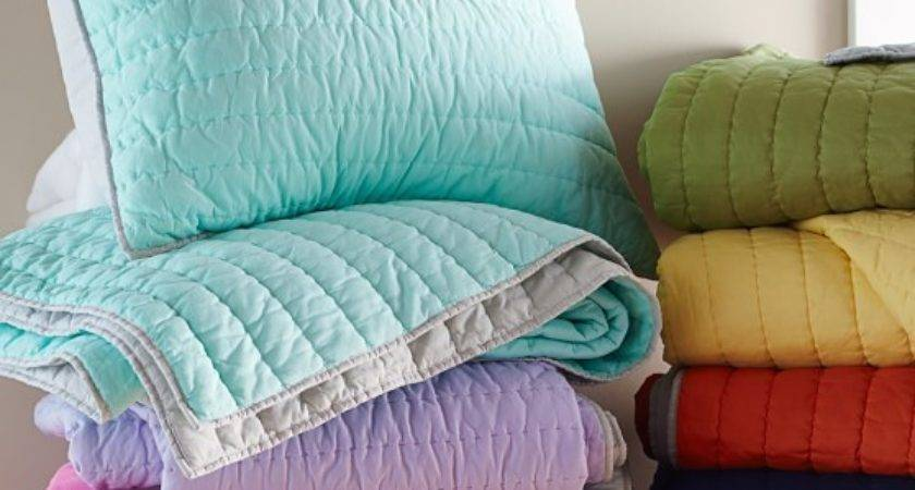 Branson Reversible Quilted Bedding Pottery Barn Kids
