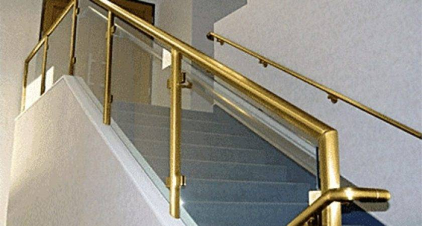 Brass Railing Stairs More Decor