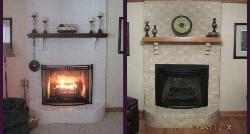 Brick Fireplace Makeover Holiday Season Anew Blog