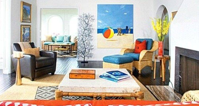 Bright Blue Orange Happy Laguna Beach Home