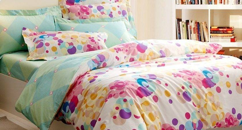 Bright Colored Colorful Polka Dot Print Beautiful Modern