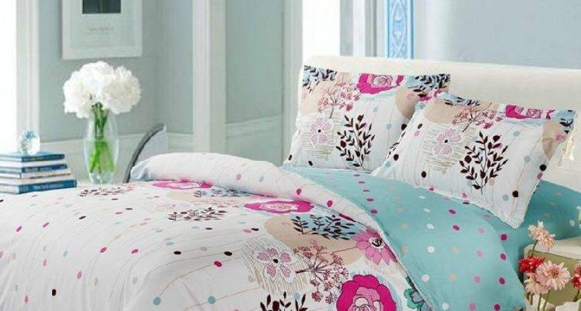 Bright Colorful Dots Active Priting Piece Bedding Sets