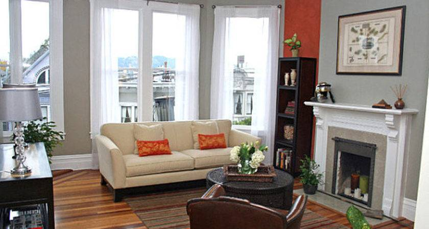 Bright Dash Wall Color Eclectic Living Room