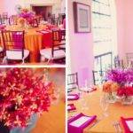 Bright Modern Pink Orange Wedding Part Every Last
