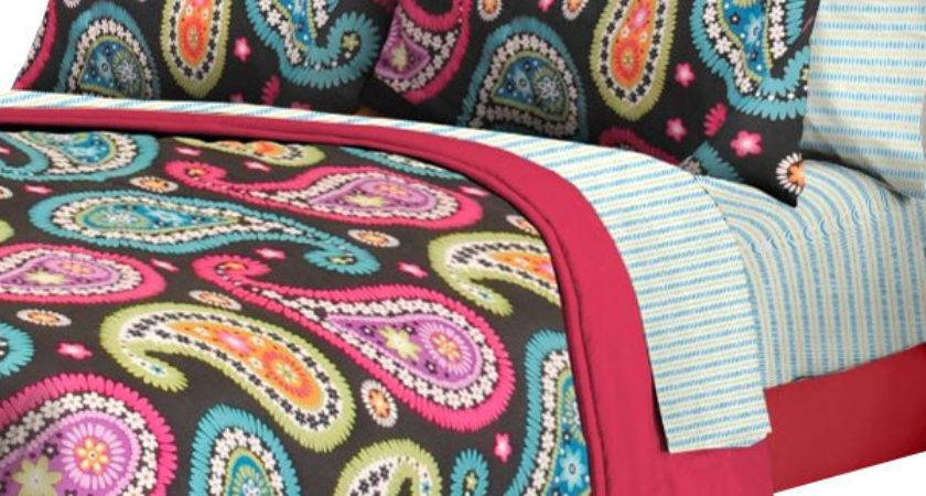 Bright Paisley Twin Bedding Set Pieces Bed Bag