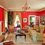 Bright Red Color Accents Bold Bautiful Home
