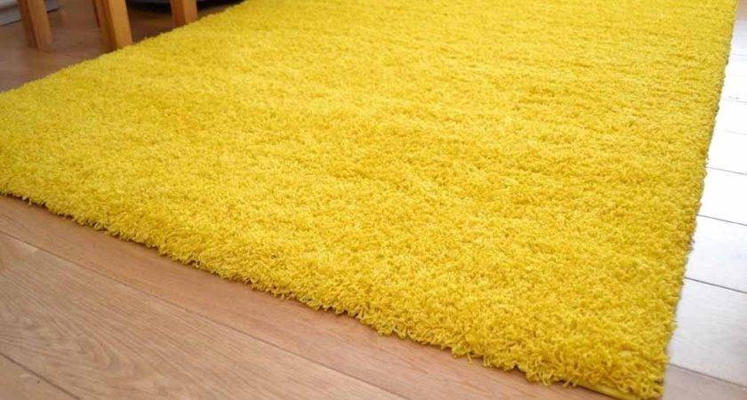 Bright Vibrant Yellow Small Large Soft Thick Plain Shaggy