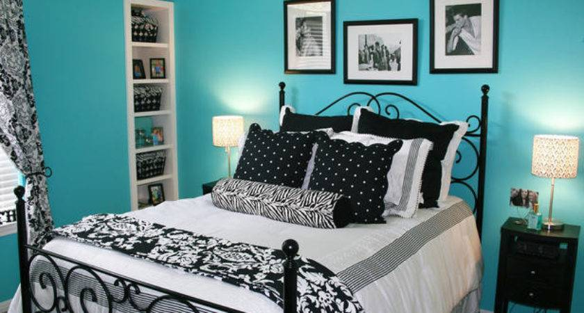 Brightly Colored Wall Paired Black White