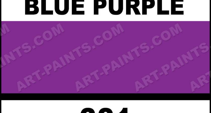 Brilliant Blue Purple Artist Acrylic Paints