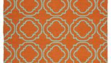 Brisa Double Quatrefoil Rug Orange Turquoise