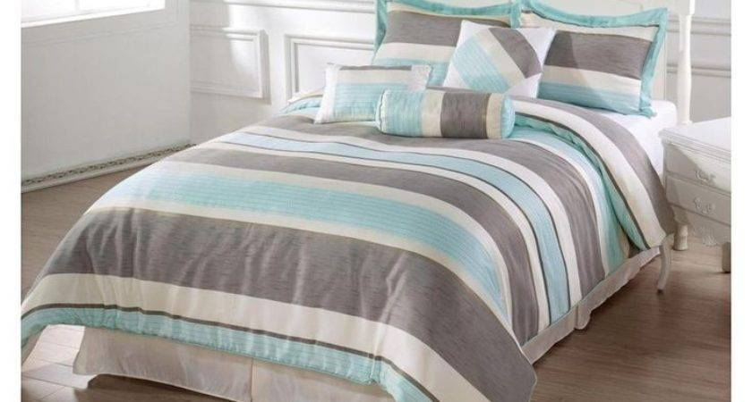Brown Aqua Bedding Decorate House