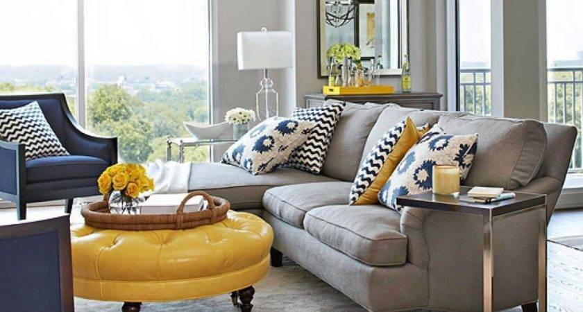 Brown Blue Yellow Living Room Ideas Color Trends