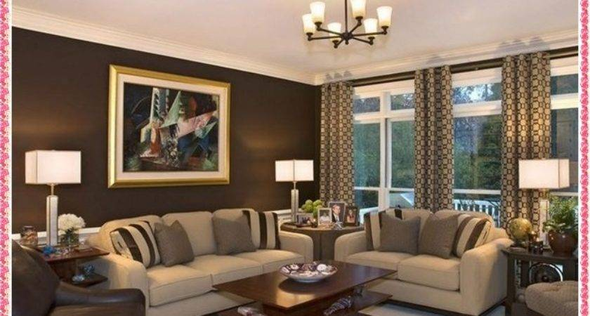 Brown Color Scheme Contemporary Living Room Design