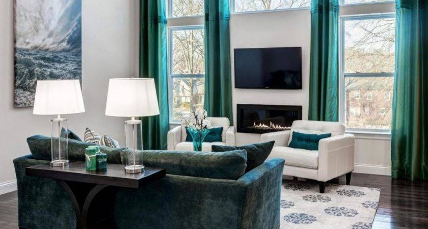 Brown Dark Turquoise Living Room Pixshark