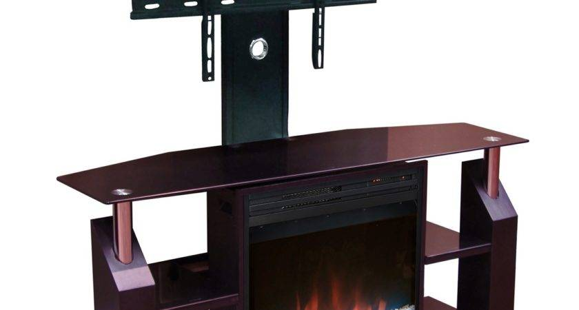 Brown Flat Screen Stand Mount Electric