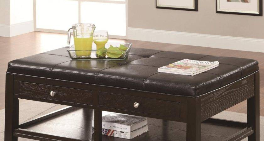 Brown Leather Coffee Table Steal Sofa Furniture Outlet