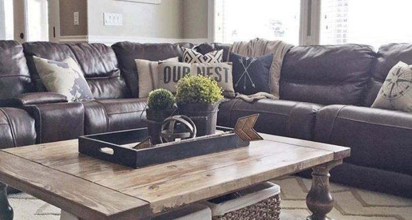 Brown Leather Couch Decor Billingsblessingbags