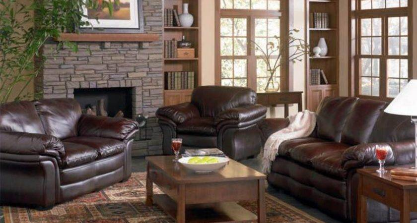 Brown Leather Sofa Decorating Living Room
