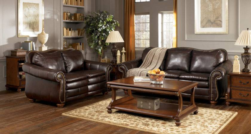 Brown Leather Three Seat Couch Love Combined