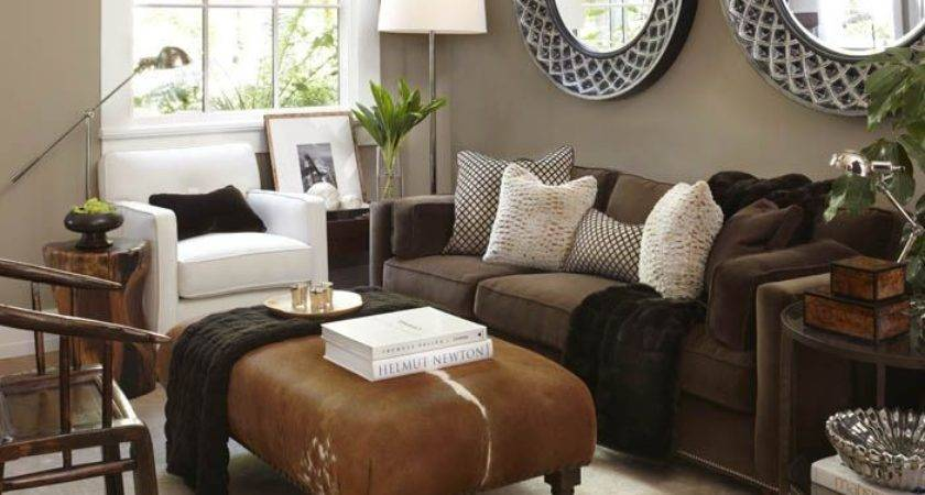 Brown Living Rooms Decorating Color Best