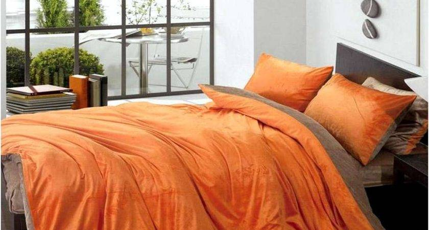 Brown Orange Bedding Burnt Sets Home