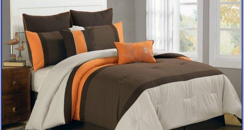 Brown Orange Bedding Sets Home Design Ideas