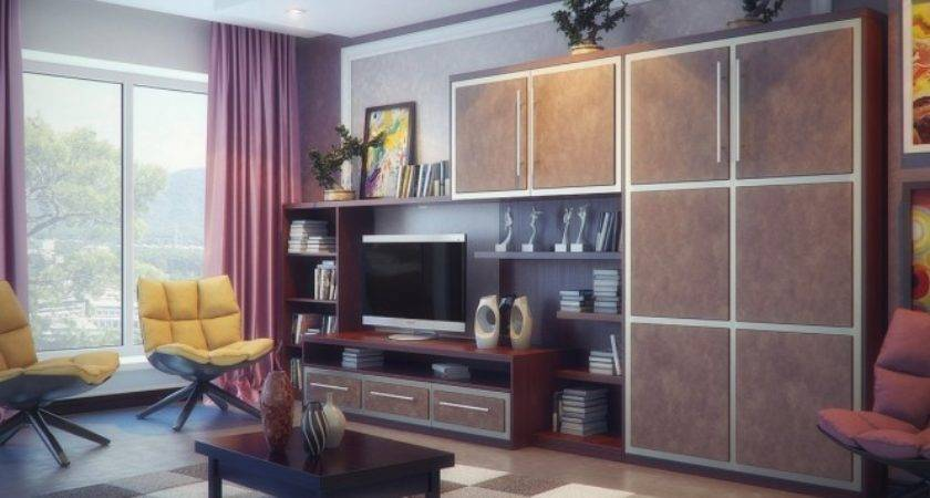Brown Purple Yellow Living Room Interior Design Ideas