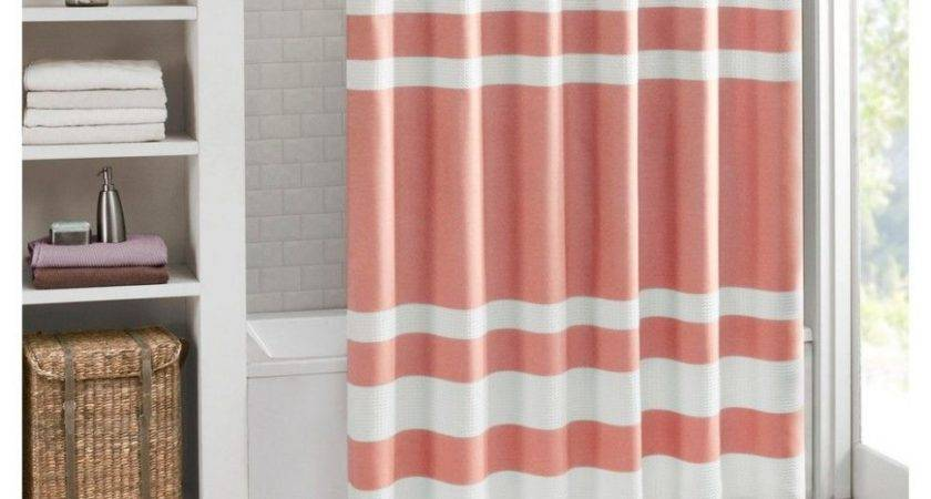 Brown Ruffle Shower Curtain Coffee Tables Red