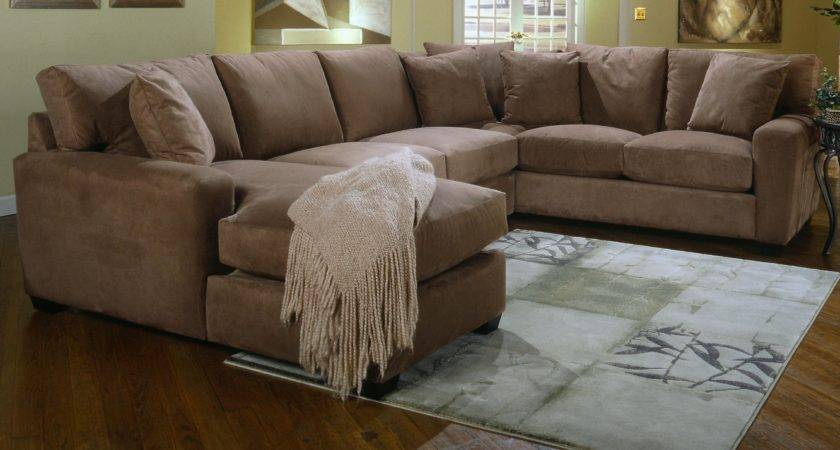 Brown Sofa Cushions Grey Carpet Also Wooden Laminate