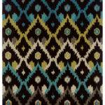 Brown Teal Area Rugs