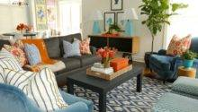 Brown Teal Orange Living Room Pixshark