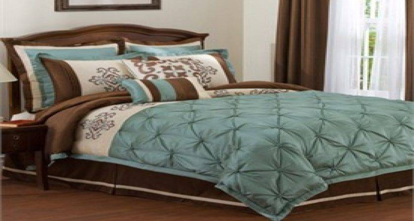 Brown Turquoise Bedroom